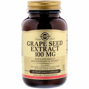 Grape Seed Extract, 100 mg, 60 Vegetable Capsules - Solgar