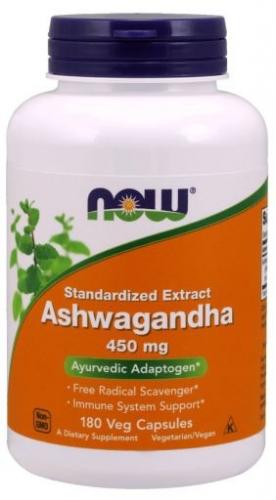 Ashwagandha, 450 mg, 180 Veg Capsules - Now Foods