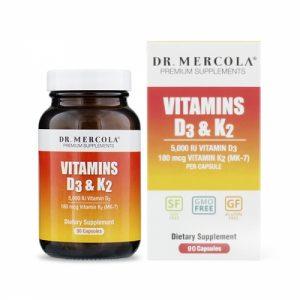 Vitamins D3 & K2, 90 Capsules - Dr Mercola - SOI*