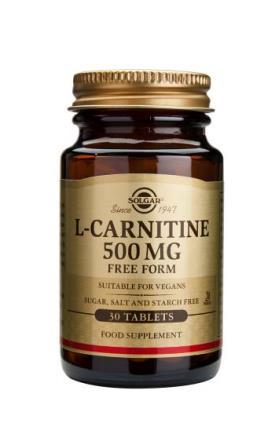 L-Carnitine 500mg 60 tablets - Solgar