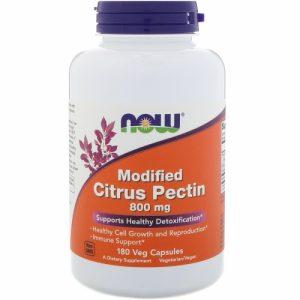 Modified Citrus Pectin 800mg, 180 veg caps - Now Foods