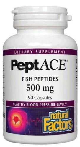 PeptACE, Fish Peptides, 500 mg, 90 Capsules - Natural Factors