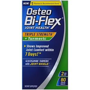 Osteo Bi-Flex, Joint Health, Triple Strength + Turmeric , 80 Coated Tablets - SOI*