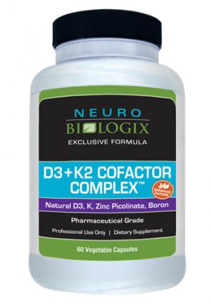 Vitamin D3 plus K2 Cofactor Complex (60 capsules) - Neuro Biologix *SOI*