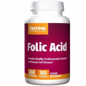 Folic Acid - Jarrow - 800mcg 100 caps