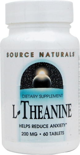 L-Theanine (200mg) - 60 Capsules - Source Naturals