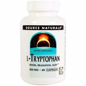 L-Tryptophan - 500 mg - 60 Caps - Source Naturals