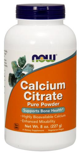 Calcium Citrate - 100% Pure Powder - 8 oz (227 g) - Now Foods