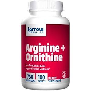 Arginine + Ornithine, 750 mg, 100 Tablets - Jarrow Formulas