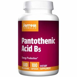 Pantothenic Acid B5, 500 mg, 100 Caps, Jarrow Formulas