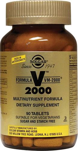 Formula V 2000, VM-2000 Multinutrient Formula, 90 Tablets - Solgar