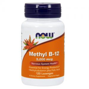 Methyl B-12/B12, 5000 mcg, 120 Lozenges - Now Foods