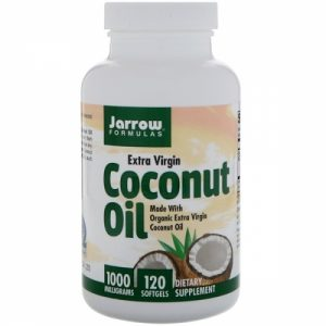Coconut Oil, Extra Virgin, 1000 mg, 120 Softgels - Jarrow Formulas