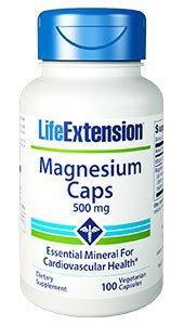 Magnesium Caps, 500 mg, 100 Veggie Caps - Life Extension