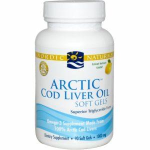 Arctic Cod Liver Oil, Lemon Flavour, 1000 mg, 90 Soft Gels - Nordic Naturals
