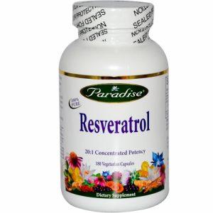 Resveratrol, 180 Veggie Caps - Paradise Herbs