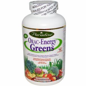 ORAC-Energy Greens, 120 Veggie Caps - Paradise Herbs