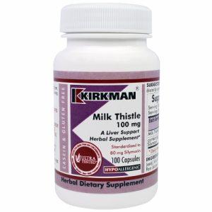 Milk Thistle, 100 mg, 100 Caps - Kirkman Labs