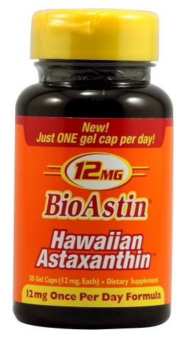 BioAstin, Hawaiian Astaxanthin, 12 mg, 50 Gel Caps - Nutrex