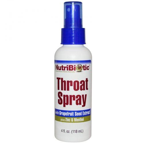 First Aid Throat Spray, 4 fl oz (118 ml) - NutriBiotic