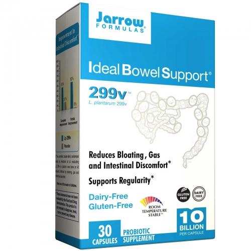 Ideal Bowel Support, 299v, 30 Veggie Caps - Jarrow Formulas