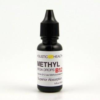 METHYL B12/B-12 MEGA DROPS 15 mL (.5 fl.oz) - Holistic Health - SOI**