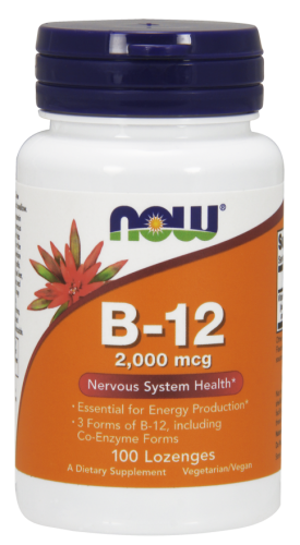 B-12/B12, 2,000 mcg, 100 Lozenges - Now Foods