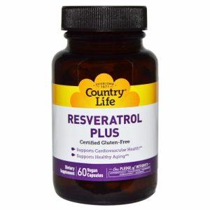 Resveratrol Plus, 60 Vegan Caps - Country Life