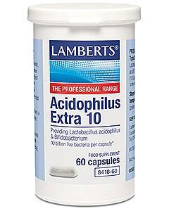 Acidophilus Extra 10 - 60 Caps - Lamberts