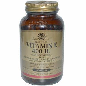 Vitamin E, 400 IU- 100 Softgels - Solgar