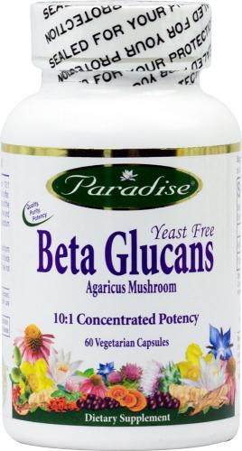 Beta Glucans, Yeast Free, 60 Veggie Caps - Paradise Herbs