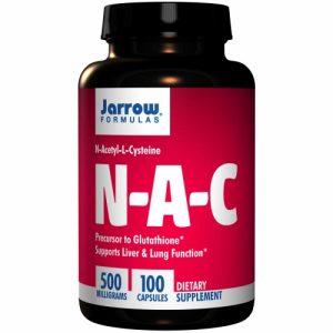 N-A-C (NAC) N-Acetyl-L-Cysteine, 500 mg, 100 Capsules - Jarrow Formulas