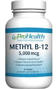 Methyl B-12 / B12 - 5000 mcg (5mg) , 60 sublingual tablets -  ProHealth - SOI**