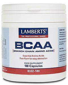 BCAA - Branch Chain Amino Acids - 180 Caps - Lamberts