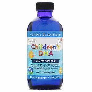 Children's DHA (Cod Liver Oil), Strawberry, 530 mg, 8 fl oz (237 ml) - Nordic Naturals