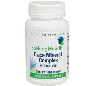 Trace Minerals Complex - 30 Vegetarian Capsules - Seeking Health
