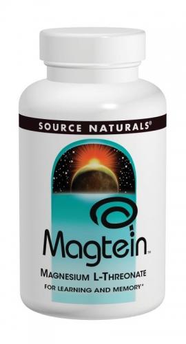 Magtein, Magnesium L-Threonate, 667 mg, 180 Capsules  - Source Naturals