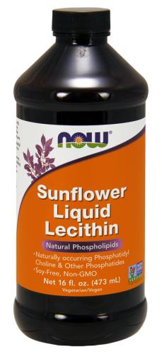 Sunflower Liquid Lecithin, 16 fl oz (473 ml) - Now Foods