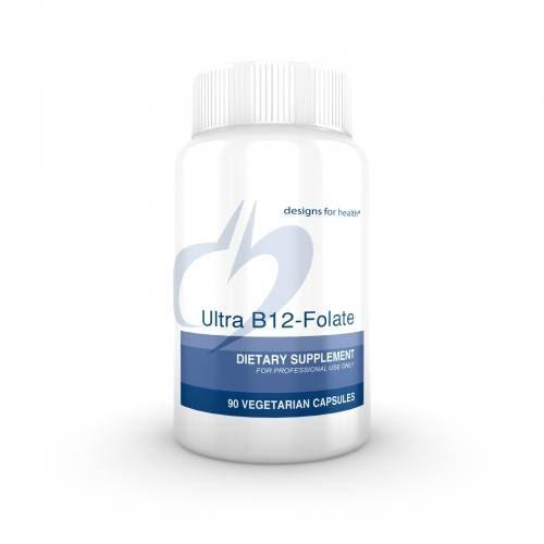 Ultra B12/B-12 Folate 90 capsules - Designs for Health