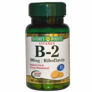 Vitamin B-2, 100 mg, 100 Tablets - Nature's Bounty