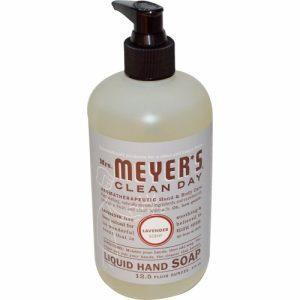 Liquid Hand Soap, Lavender Scent, 12.5 fl oz (370 ml) - Mrs. Meyers Clean Day