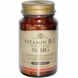 Vitamin B2- 50 mg- 100 Tablets - Solgar