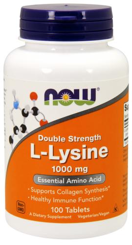 L-Lysine, 1,000 mg, 100 Tablets - Now Foods