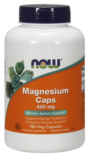 Magnesium Caps, 400 mg, 180 Capsules - Now Foods