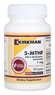 5-MTHF (1mg) 120 caps - Kirkman Labs