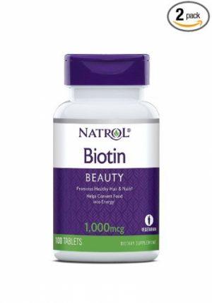 Biotin, 1000 mcg, 100 Tablets - Natrol