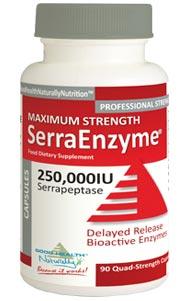 Serra Enzyme (Serrapeptase) 250,000IU Maximum Strength – 90 Delayed Release Capsules