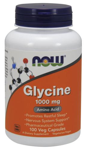 Glycine - 1000mg (100 caps) - Now Foods