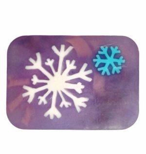 Artisan Soap Slice, Vanilla Peppermint Snowflake, 6 oz (170 g) - Hugo Naturals