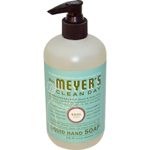 Liquid Hand Soap, Basil Scent, 12.5 fl oz (370 ml) - Mrs. Meyers Clean Day